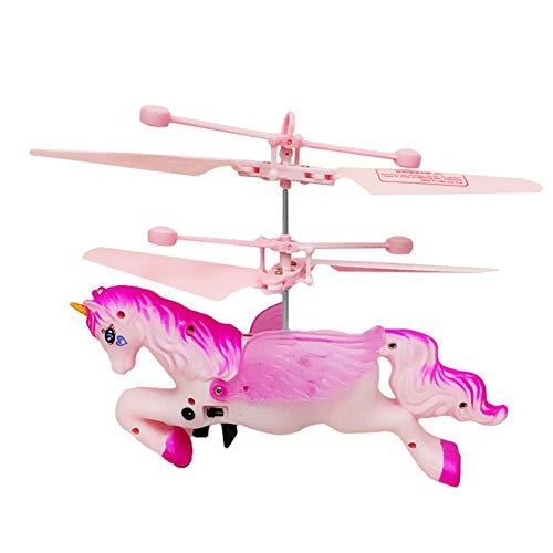 yuhiugre Einhorn Fliegender Spielzeug, RC Fliegender Ball, Infrarot-Induktions-Hubschrauber...
