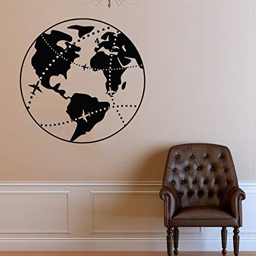 JXFM fotobehang van Terra Natura Terra landkaart pientena wanddecoratie slaapkamer slaapkamer vinyl sticker kinderkamer decoratie afneembaar 57 x 57 cm