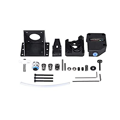 3D Printer Accessories, TUZUK Upgrade BMG Extruder Cloned Btech Bowden Extruder Dual Drive Extruder 1.75mm for Tevo Tornado Wanhao D9 CR10 Ender3 Anet E10, Black