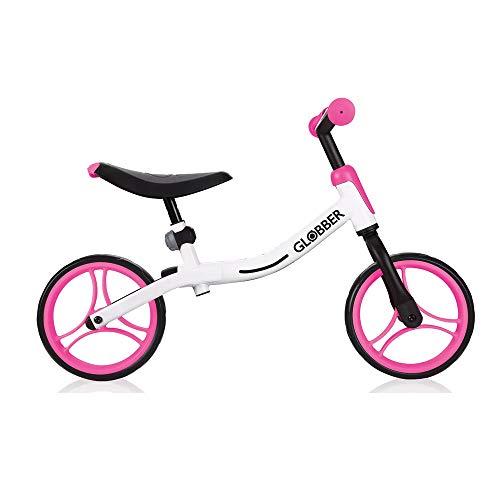 Globber 610-162 Go Bike 610-162-Bicicleta estática, Color, Blanco-Rosa neón, Talla única