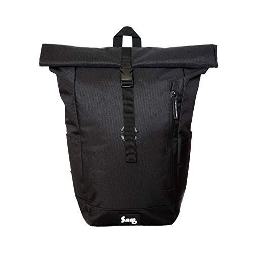 S/O Rolltop-Rucksack – wasserdicht, mit Laptopfach, 20 L Volumen, schwarz, modern, für Damen und Herren, ideal für Schule, Business, Universität, Reisen