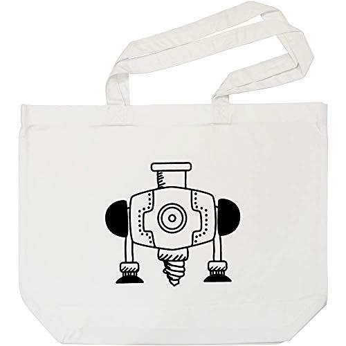 Azeeda 'Industriebohrer' Weiße Einkaufstasche (BG00009112)