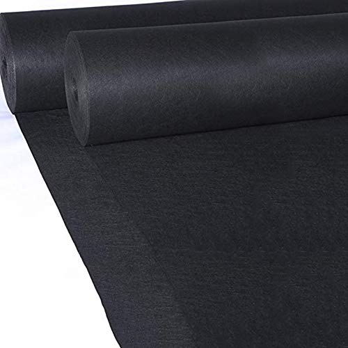 Alfombra Negra Corredor De Alfombra Negra Para Fiesta, Decoraciones De Boda, Corredor De Pasillo De Poliéster De 2.2 Mm De Espesor Para Boda De Baile, Corredor De Alf(Size:1.2×30m(4×98ft),Color:negro)