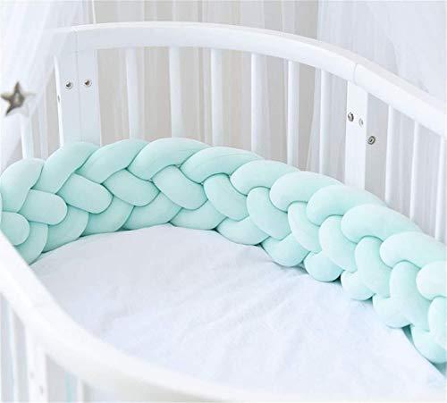 RedKids flätat spjälskydd för babysäng, spjälsängsskydd, 4 flätor kantskydd 2 m/2,5 m/3 m huvudskydd spjälsäng.