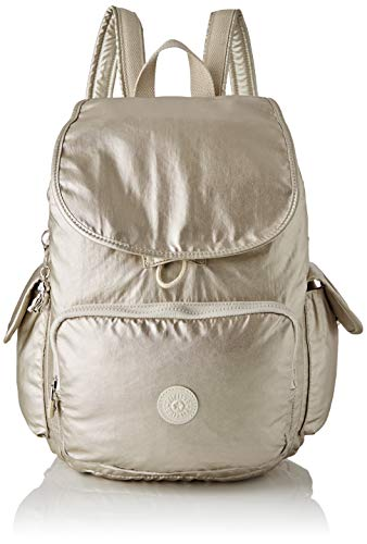 Kipling City Pack - Zaini Donna, Oro (Cloud Metal), 32x37x18.5 cm