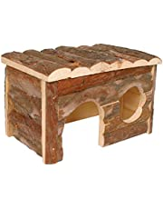 Arquivet Casa para roedores de madera mediana para roedores - Casa de juego para hamsters, ratas, ardillas - Casita de madera para roedores pequeños - 28 x 18 x 16 cm