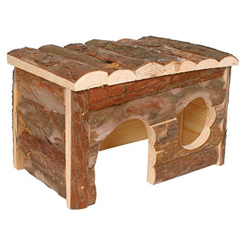 Arquivet Casetta per roditori in Legno Medio per roditori, casetta da Gioco per criceti, ratti, scoiattoli, casetta in Legno per Piccoli roditori, 28 x 18 x 16 cm