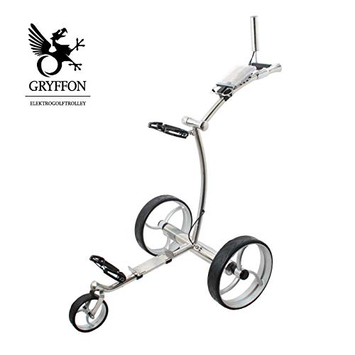 GRYFFON Elektro Golf Trolley Professional Steel Edelstahl mit Lithium-Eisen Akku / 24V Lithium Elektro Caddy Golf/Elektro Trolley X2D-SS