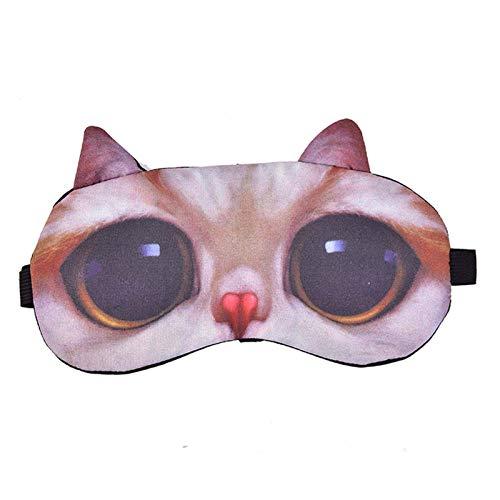 Venda de los Ojos, Animal Conjunto máscara for Dormir Linda, Suave y cómodo, Ayuda a aliviar la presión sobre los Nervios del Ojo y los Vasos sanguíneos, Ayuda a aliviar la Fatiga y Mejora el Entorno