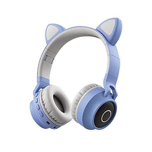 Mindkoo - Cuffie Bluetooth con gatto, colore: Rosa