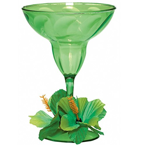 amscan International Hawaiian Verre à Margarita Vert Citron
