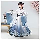 YUNGYE Disfraz de otoño de estilo chino para niños, elegante, bordado de manga larga, para niña, mejorado, original Super Fairy Hanfu (color: estilo C, tamaño: 110 cm)