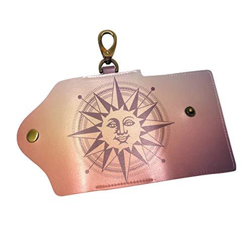 COOSUN - Funda de piel con diseño de esfera solar, tres pliegues...