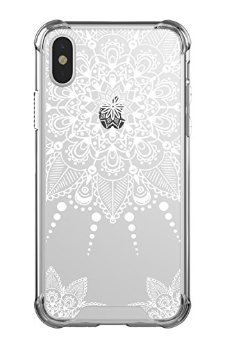 CASY MALL Case for iPhone Xs,Case for iPhone X, Hybrid PC+TPU Bumper Slim Hard Case for Apple iPhone Xs 2018, iPhone X 2017 Crystal