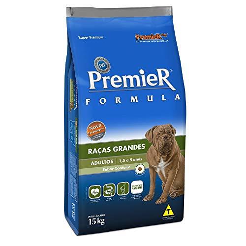 Ração Premier Fórmula para Cães Adultos de Raças Grandes Sabor Cordeiro, 15kg Premier Pet Raça Adulto,