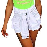 ファッション女性ボタンタッセルジャンパンツハイウエストデニムレースレーススリムセクシーショーツ体型カバー 夏 フィット スリム 伸縮性 軽量 美脚 吸汗 速乾 ヨガウェア ダンス 柔らかい 夏場に走る用 ランニング 運動 通勤 部屋着 浜辺 砂浜