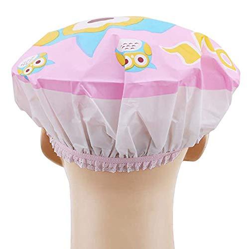 JIANGPENG Douchebad Cartoon douchekap vrouwelijke volwassenen verdikking reis waterdicht shampoo hoed keuken rookhoed