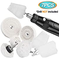 7-Pack SAFETYON Drill Polishing Mop Wheel Buffing Pads