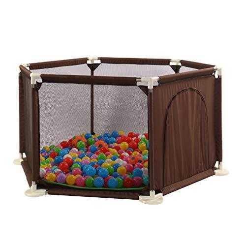 IMBM Loopstal, grote babygaas, veiligheidsstore voor binnenshuis, met kogel, zuignap, deur, verbreed sokkeldesign, draagbaar speelhuisje voor kinderen, peuters en peuters