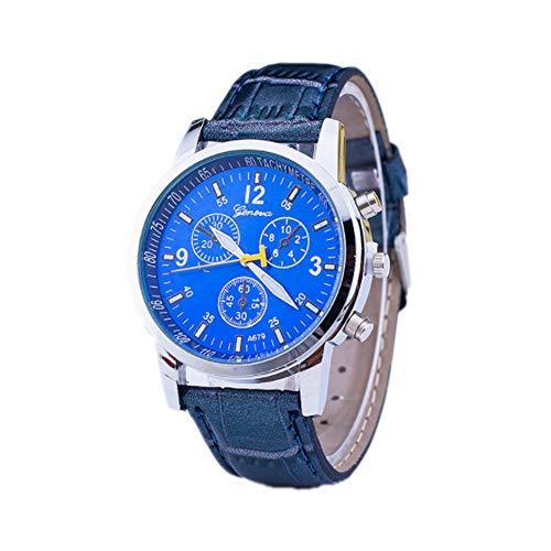 Reloj a Cuarzo analógico Reloj décontractée Reloj de Pulsera Reloj de Moda Vogue Relojes Hombre Mujer Ultra Fino Reloj de cinturón muñecas (Tres Ojos Reloj) X 1