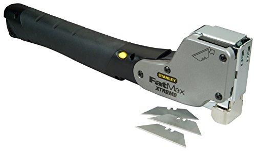 Stanley FatMax Hammertacker (Befestigen und Beschneiden in einem Werkzeug, mit AntiJam, ergonomischer Handgriff) PHT350