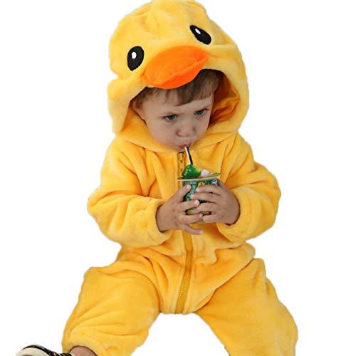 Bambino Tuta Neonato Tutine Addensare Jumpsuit Outfits Pagliaccetto Invernale con Cappuccio Tuta da Neve Animale Carino