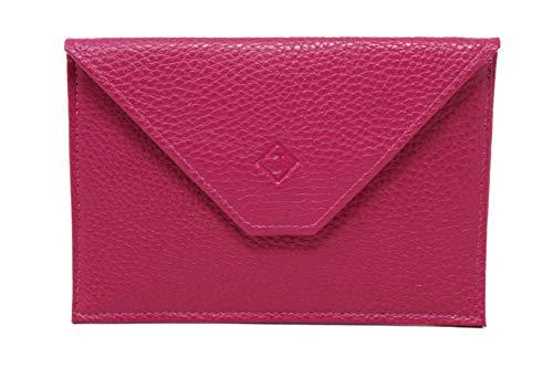 Lilosac – Reisebrieftasche – Ausweissmappe – Ausweishulle – Ausweisetui - KFZ Schutzhülle – Aus echtem Leder – Papieren – Geld – Kreditkarten - (Rosa)