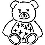 A5 'Teddy Bear' Wall Stencil/Template...