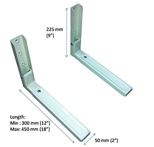 HOME.IN Microwave Oven Wall Mount Stand/Bracket with 12
