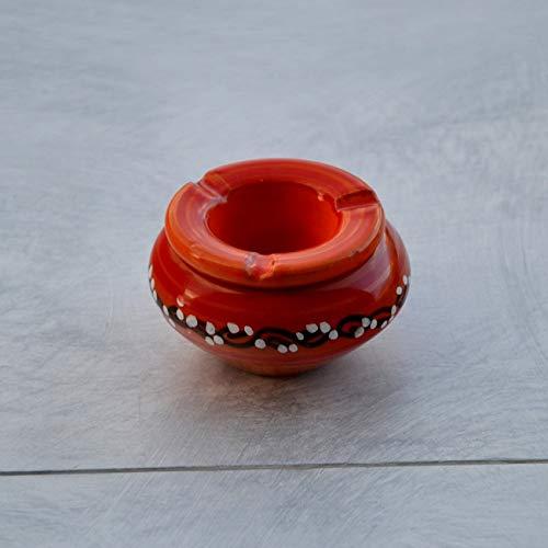 Yodeco - Cendrier anti fumée Tatoué orange - Mini modèle