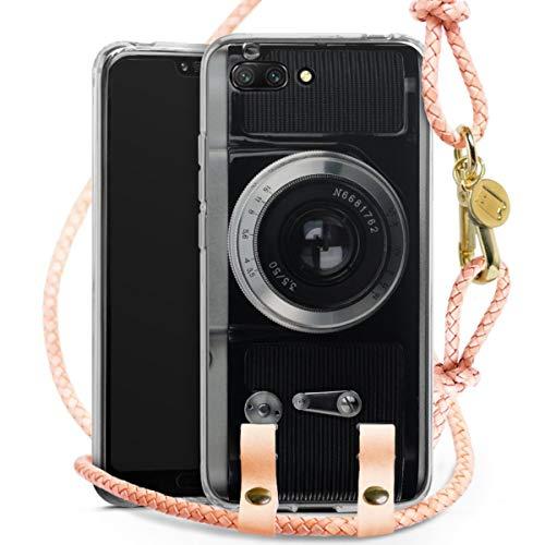 DeinDesign Carry Case kompatibel mit Huawei Honor 10 Hülle mit Kordel aus Leder Handykette zum...
