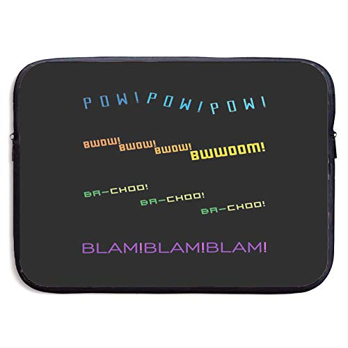 Voltron Sound Effects Typography Laptop Sleeve Case Compatible for 13 15 Inch MacBook Notebook Computer Tablet Protective Bag