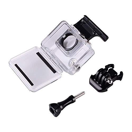 GzxLaY Brandneues Zubehör 45 m wasserdichtes Unterwasserschutzgehäuse mit Tauchfilter für GoPro Hero 4 3+ Schwarz Silber Action Kamera Kamerahalterung (Farbe: Schwarz Farbe) (Color : Black Color)