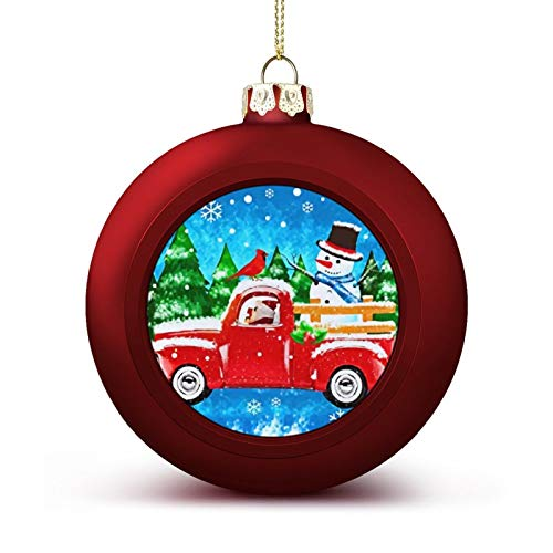 MOEEZE Christmas Balls Winter Welcome Snowman Xmas Ball Ornaments Lightweight Hanging Balls Tree Decorations