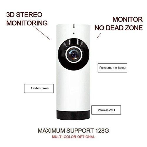 Cámara de Vigilancia Seguridad WiFi, Visión Nocturna IP Cámara de Seguridad, 1,0 Megapixels HD P2P Camera con DeteccióN De Movimientos/ 2 Way Talkback System Compatible con iOS y Android