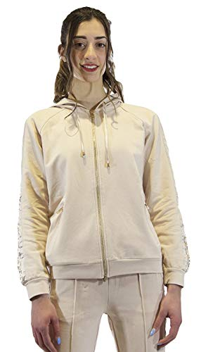 Gaudì Jeans Sweatshirt mit seitlichen Bändern, 111BD64010, 111BD64010, Pink, 111BD64010 S
