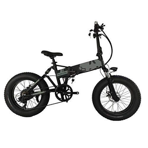 FZYE 20 Pulgadas Bicicleta Eléctrica, 36V10A Aluminum Alloy Bicicletas Plegable Montaña Bike Deportes Aire Libre