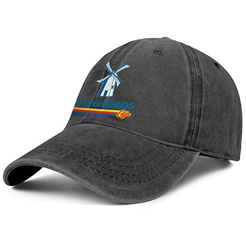 Dutch-Bros-Coffee-Logo- Black Womens Mens Washed Cap Hat Mesh Baseball Cap Tennis Cap Trucker Hat Bucket Hat Dad Cap