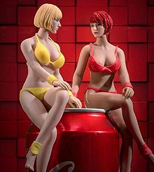 HiPlay 1/12 Scale Female Seamless Action Figure Set-Head+Figure+Accessory Full Set- 6 inch Super Flexible Figure Doll T03A Pale Skin