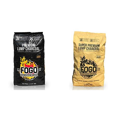 Fogo Super Premium and Premium Oak All-Natural Hardwood Lump Charcoal for Grilling and Smoking, 17.6...