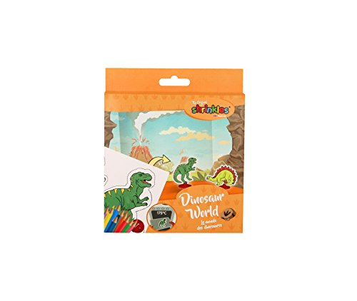 Shrinkles WZ051Dinosaur World Crafts Mini Confezione in plastica termoretraibile, Colore Unknown