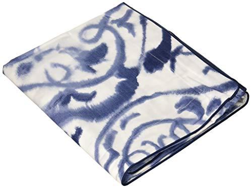 Designers Guild, kussensloop, katoen, blauw en wit, 65 x 65 cm