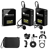 Pixel UHF Wireless Lavalier Microphone System with 1 Receiver, 2...