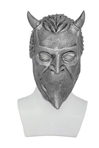 Xcoser Halloween Maske Rock Roll Band Cosplay Kostüm Sliver Latex Helm Erwachsene Verrücktes Kleid Kleidung Zubehör