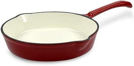 XZJJZ Cast Iron Frying Pan Pan Frying Pan Fried Egg Pan Steak Pot Multi function Pot with Red