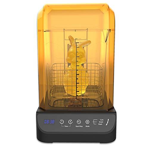 GIANTARM Geeetech Máquina de Lavado y curado 2 en 1,para Limpiar y Curar Modelos Impresos en impresoras de Resina 3D ,con Pantalla Anti-Ultravioleta y función de detección Inteligente…