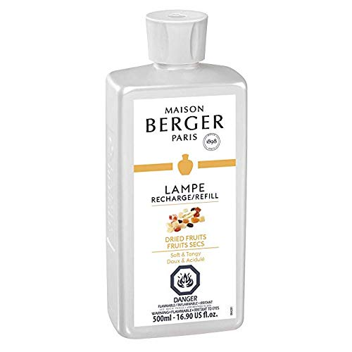 MAISON BERGER Dried Fruits Lampe Berger Refill for Home Fragrance Oil Diffuser, 16.9 Fluid Ounces-500 milliliters