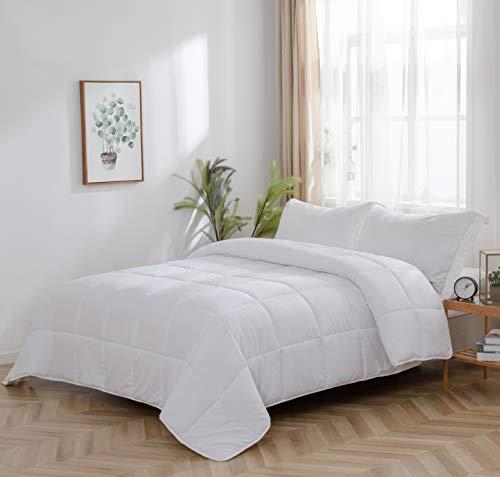 Inserto Nórdico Edredón Mullido y Suave Ligero y Cálido Microfibra Premium Doble Cepillado 220x240 Blanco