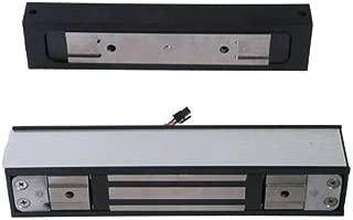 Schlage Electronics GF3000SM Surface-Mounted Shear Electromagnetic Lock, Single Outswinging Door, Horizontal Mount, 3,000 lb. Holding Force, Satin Aluminum Finish
