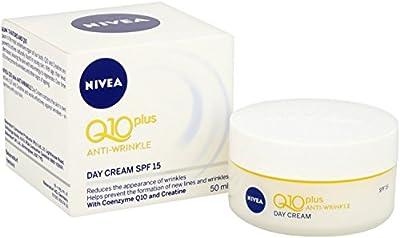 NIVEA Q10 Power Anti-Wrinkle + Firming Age Spot Day Cream SPF15 Pack of 3 (3 x 50ml), Anti Ageing Cream + Creatine & Q10, Moisturiser for Women, Wrinkle Reducing Cream from Beiersdorf Uk Ltd